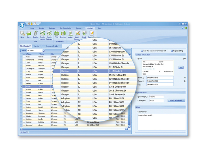 MyInvoices & Estimates Deluxe Screenshot