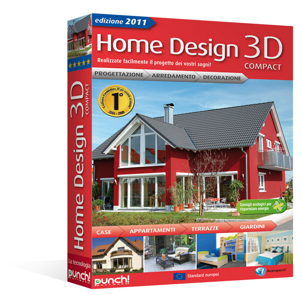 Home design 3d 2011 compact for Progetta casa in 3d online