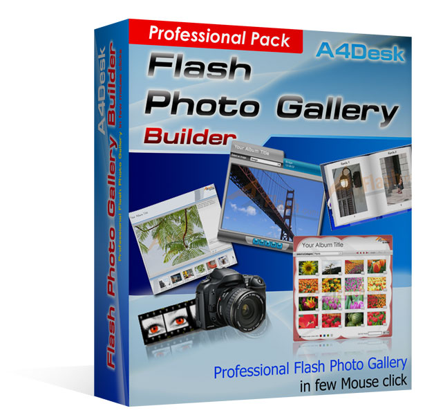 A4Desk Flash Gallery Builder - Professional Pack