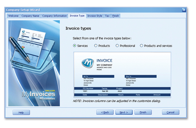 MyInvoices Estimates Deluxe Avanquest - Program to create invoices for service business
