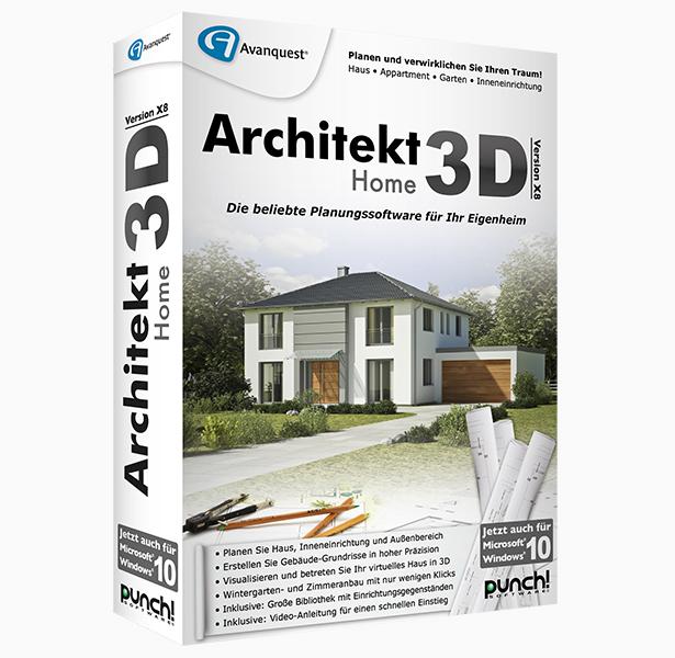 Architekt 3D X8 Home. Planen Sie Haus, Wohnung, Garten Oder  Inneneinrichtung ...