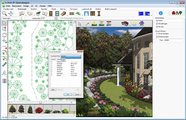 Architekt 3d x8 gartendesigner f r windows fotorealistische gartenplanung f r ihren pc - Software gartenplanung ...