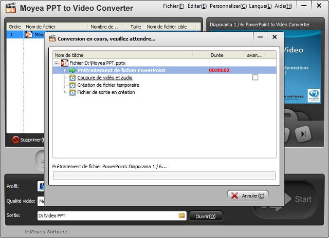 convertir ppt en pdf avec commentaires