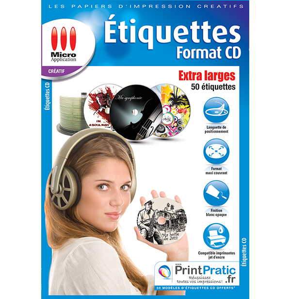 Etiquettes CD Extra Larges
