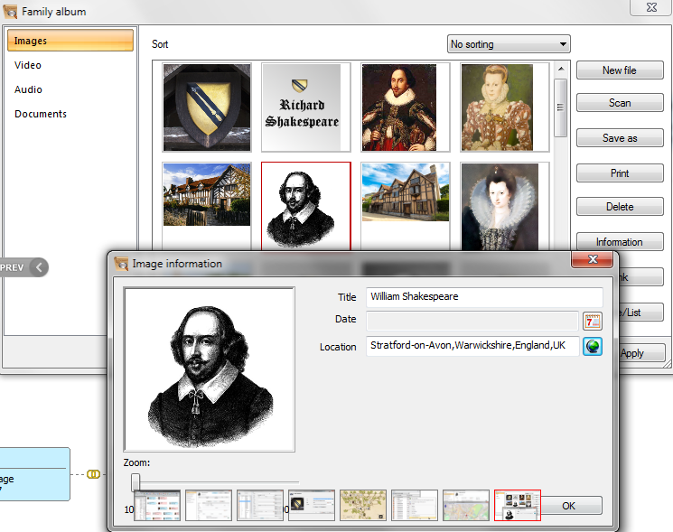 how to add media to ancestry family tree