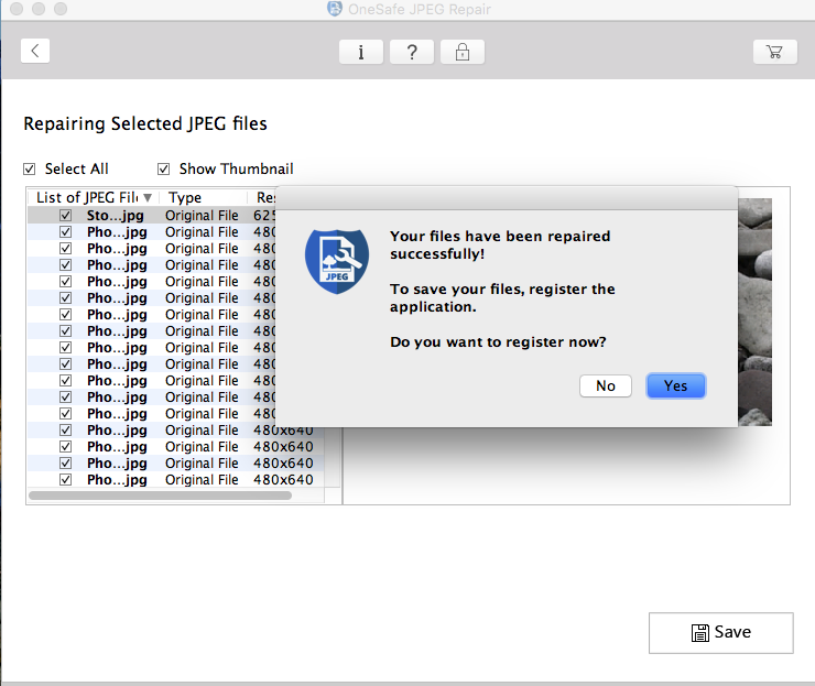 OneSafe JPEG Repair for Mac : Repair corrupt or damaged JPEG