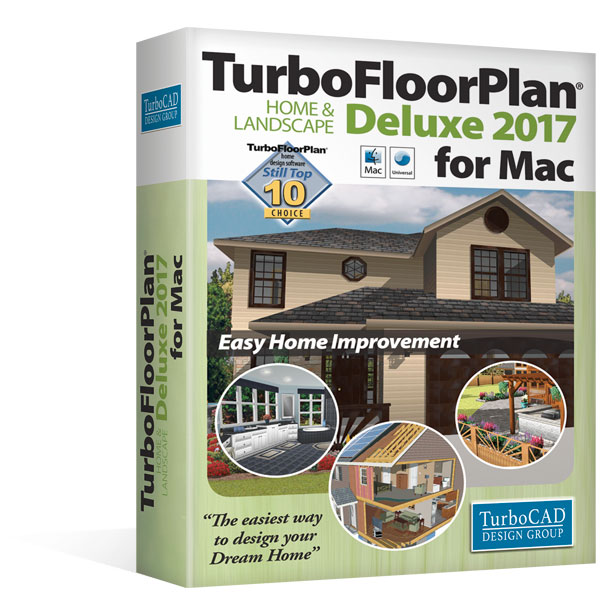 TurboFloorPlan 3D Home & Landscape Deluxe 2017 for Mac